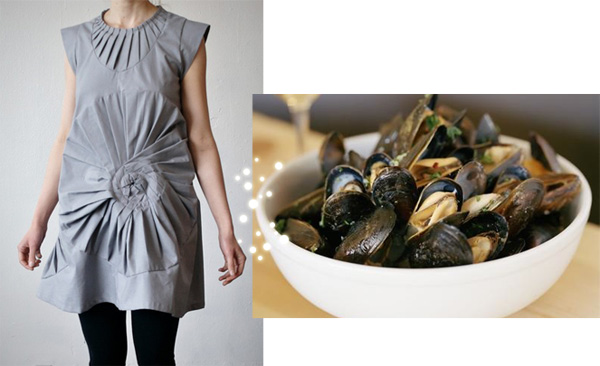 Dress with Mussels and White Wine Recipe