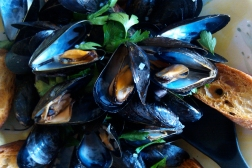 Mussels in White Wine Picture - Dresses & Appetizers