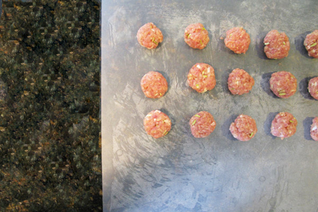 Mini fennel turkey burger patties picture