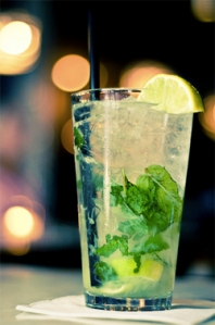 mojito with grilled lime