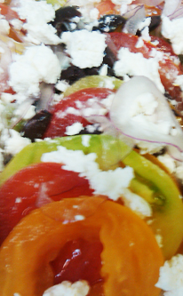 Heirloom tomato and goat cheese salad recipe