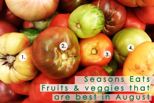 August Seasonal Produce: Heirloom Tomato Varieties