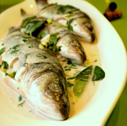 Branzino with Lemon Grass and Coconut Milk Recipe - Dresses & Appetizers