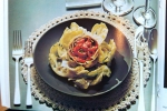 Gourmet Magazine, October 1974: Artichoke Andalouse Picture- Dresses & Appetizers