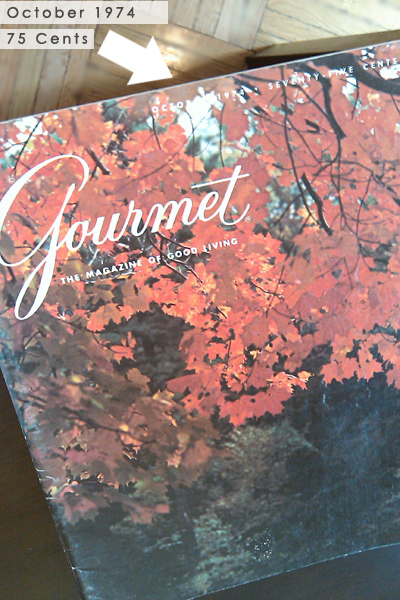 Gourmet Magazine, October 1974 Cover Picture - Dresses & Appetizers