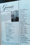 Gourmet Magazine, October 1974: Editors and Founder – Dresses &Appetizers