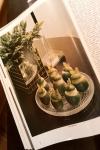 Gourmet Magazine, October 1974: Lime Sorbet – Dresses &Appetizers
