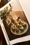 Gourmet Magazine, October 1974 Picture: Lime Sorbet - Dresses & Appetizers