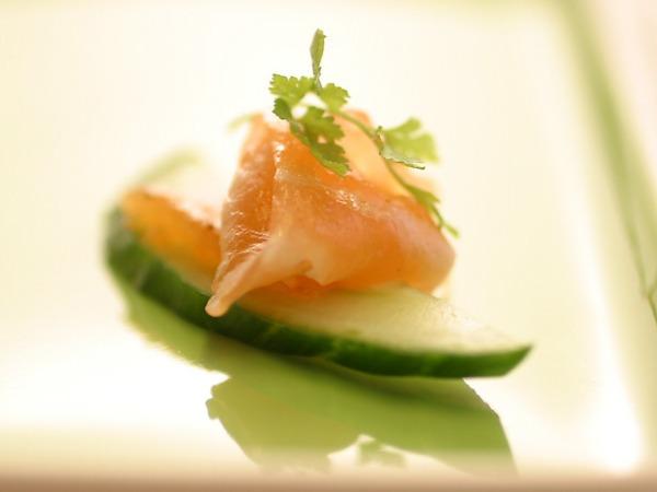 Lemongrass cured salmon appetizer picture - Dresses & Appetizers