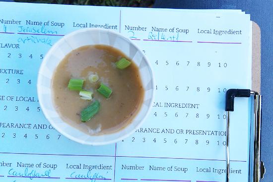 Jerusalem artichoke soup, Prospect Farm Soup Cook Off - Dresses & Appetizers