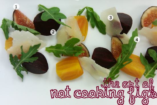 Fig Salad with Beets and Pecorino Romano Cheese Recipe - Dresses & Appetizers