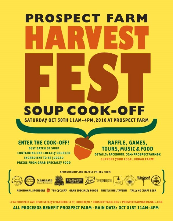 Prospect Far Soup Cook Off Flyer and Sponsors - Dresses & Appetizers