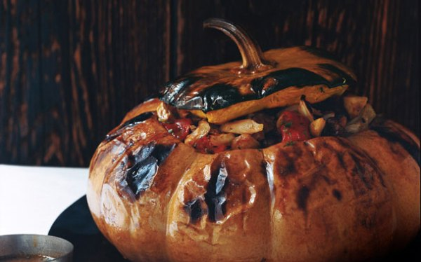 Stuffed Pumpkin Picture, Gourmet.com - Dresses & Appetizers