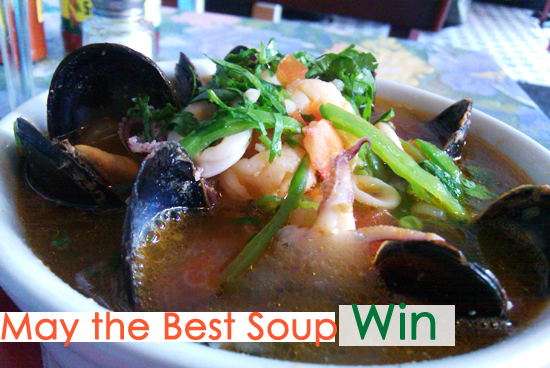 Soup Cook Off: Seafood Soup Picture, Brandon Maya - Dresses & Appetizers