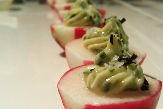 Nori Butter and Radish Appetizer - Dresses & Appetizers