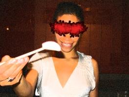 Entertaining Idea: Blindfold Feeding, Dresses & Appetizers