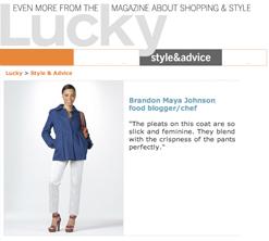 Lucky Magazine Shopping Interview, Brandon Maya