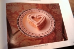 Coffee Dacquoise Heart Dessert, February 1986 Gourmet Magazine, Dresses & Appetizers