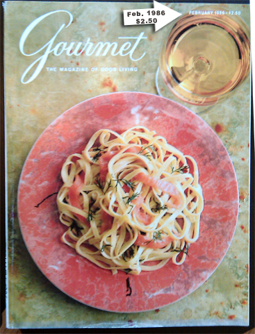 Valentine's Day 1986 Gourmet Magazine Cover, Dresses & Appetizers