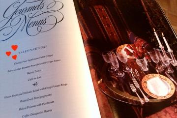Vintage Gourmet Magazine Valentine's Menu, Dresses & Appetizers