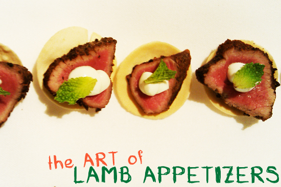 5 Spiced Lamb Appetizer with Tzatziki, Dresses & Appetizers