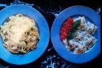 Shrimp and Swiss Chard Ravioli with Basil Butter Sauce, Vintage GourmetMagazine