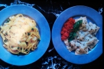 Shrimp and Swiss Chard Ravioli with Basil Butter Sauce, February 1986 Gourmet Magazine