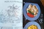 Pasta a la Francaise, Vintage Gourmet Magazine, Valentine's Day, Dresses & Appetizers