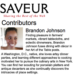 Saveur.com, Art of the Table Columnist, Brandon Maya