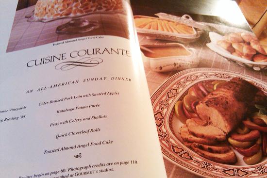Sunday Dinner, Vintage Gourmet Magazine, Dresses & Appetizers