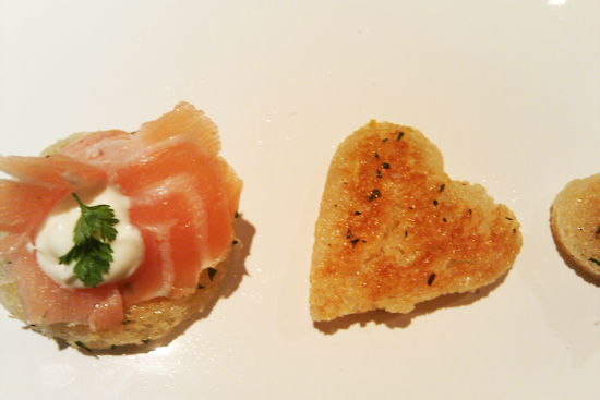 Smoked Salmon Appetizers, Herbed Crostini and Chervil Creme - Dresses & Appetizers