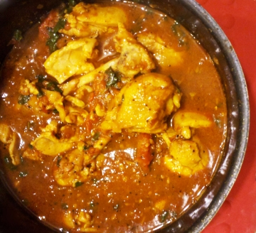 Indian Food: Chicken Garlic Ginger with Cilantro and Spices Recipe