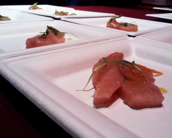 Tuna Crudo with Strawberry Vinaigrette, Hop Chef DC