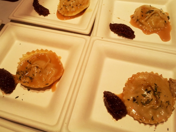 Stuffed Ravioli with Foie Gras and Beer Sauce, Hop Chef DC